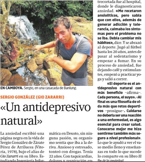 Gio Zararri en el periódico de Catalunya