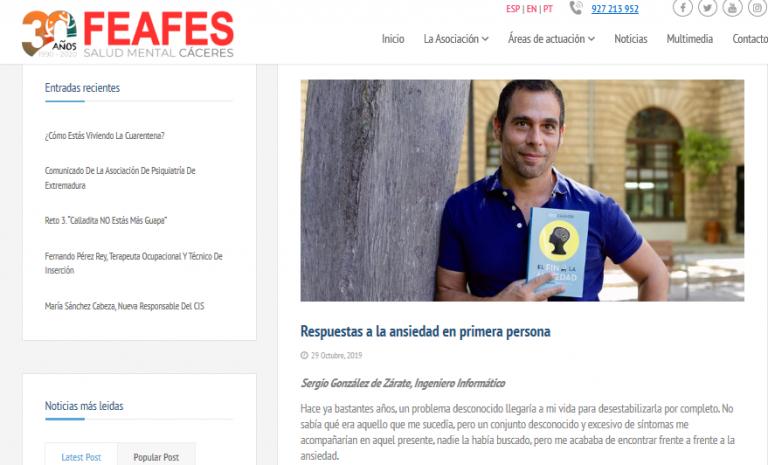 Entrevista en FEAFES, Federación Española de Salud Mental