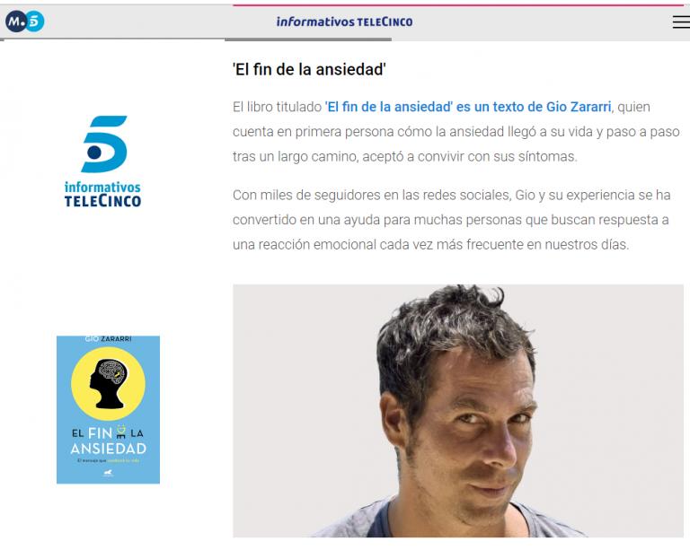 El fin de la ansiedad en Informativos Telecinco
