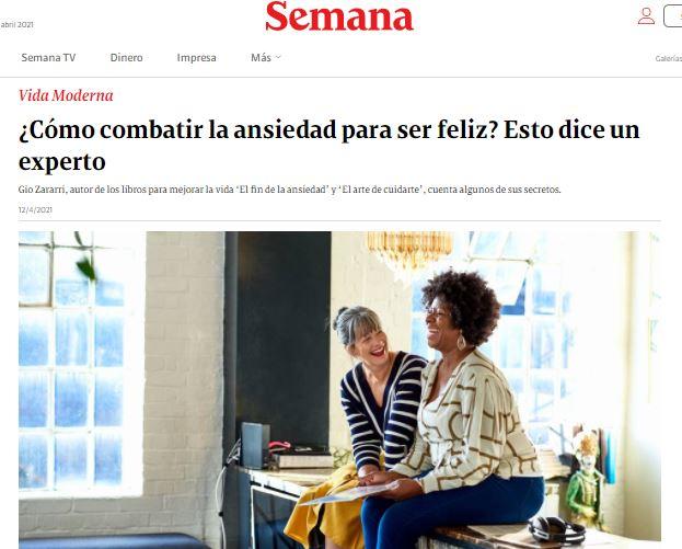 Entrevista a gio zararri coach experto en el trastorno de ansiedad en la revista semana